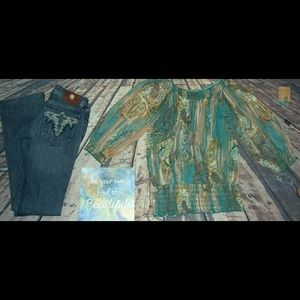 Southwestern Clothing Bundle Turquoise Boho Antik